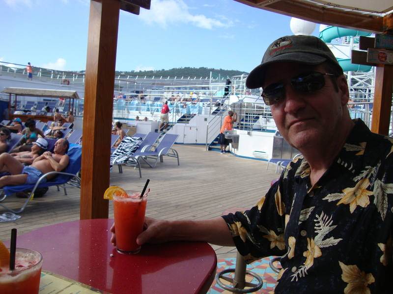 Drinks at the Red Frog Rum bar - Carnival Liberty