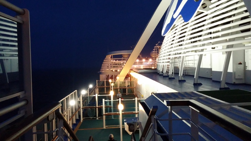 Portside at night - Caribbean Princess
