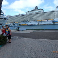 In Nassau - view of the ship