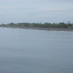 Shoreline in Puntarenas