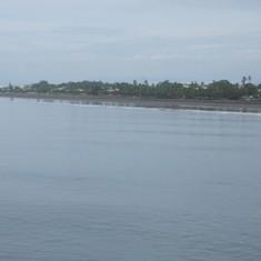 Shoreline in Puntarenas