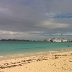 Nassau beach near cruise port.