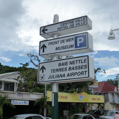 Sign in French, St. Martin