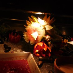 Some of the buffet decorations