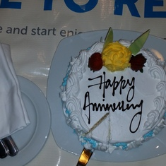Complimentary Anniversary Cake