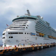 Docked in Cozumel.
