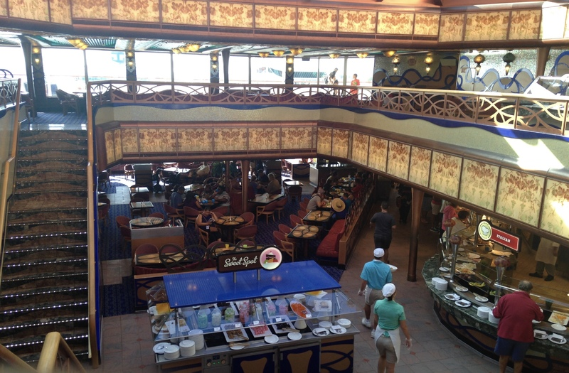 view looking down to the Sweet Spot - Carnival Liberty