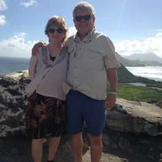St. Kiits, Nevis in the background.