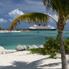 View from the Hammocks on Castaway Cay.