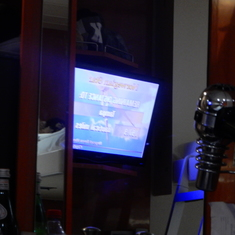 Watch TV using mirror