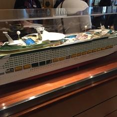 Ship Model outside Windjammer