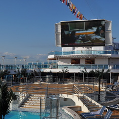 Movie screen on Royal Princess