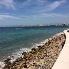 The beach and Bay in Puerto Vallarta