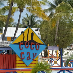 Ferrying into Coco cay
