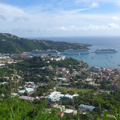 Roseau, Dominica - Dominica: View of harbor from a great vantage point