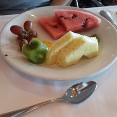 Wonderful fresh fruit in MDR