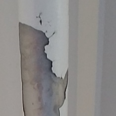 Balcony of my room paint chips falling from ceiling every day