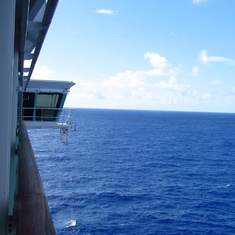 view from Freedom of the Seas cabin 1236