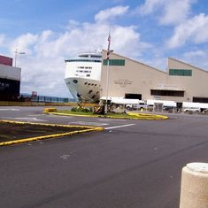 Hilo, Hawaii - The ship in dock in Hilo