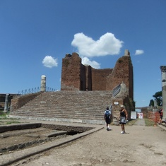 The forum in Ostia Antica