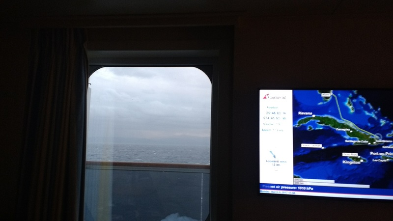 Carnival Vista cabin 7453 - Looking out from bed