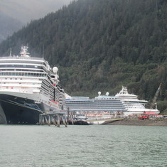 Cruiseships can triple the population of towns like Haines.