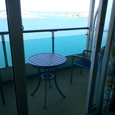our balcony!