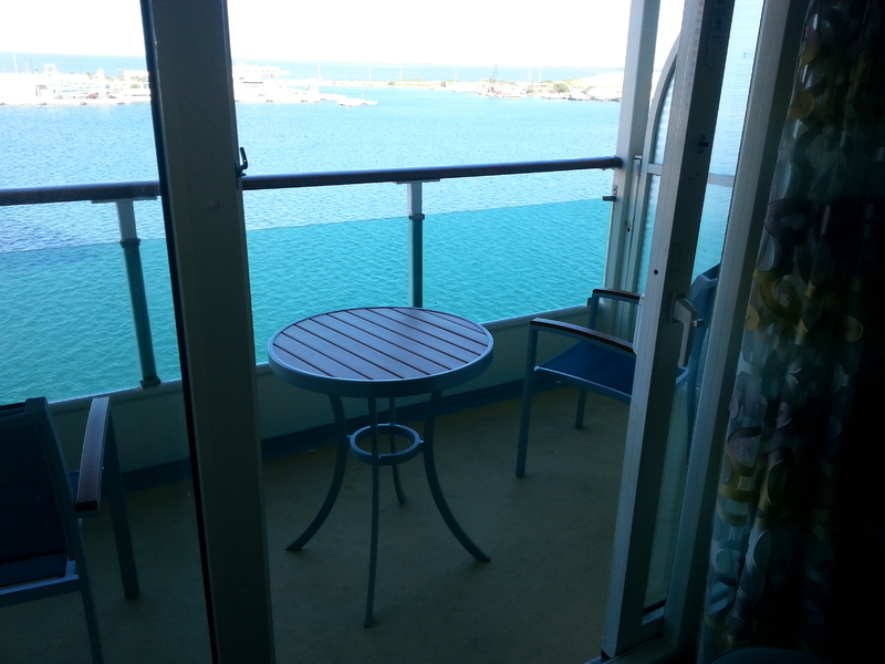 Enchantment of the Seas cabin 8122 - our balcony!