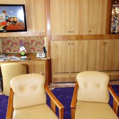 Pinnacle Suite Work Desk in Living Room.  Cabin 7001