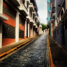 Another beautiful street in San Juan
