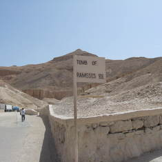 Valley of the Kings.  Egypt