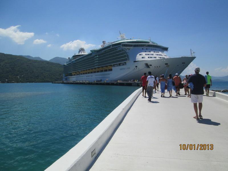Haiti ,headed back to ship - Freedom of the Seas
