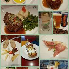 Just some of the food and drinks available