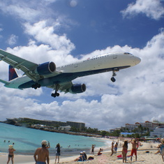 The beach and airport in St. Maarten.  A must see.