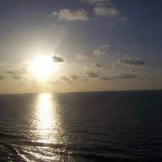 Beautiful sunset while leaving Cozumel