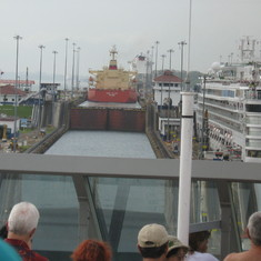 Panama Canal Transit - Entering the Panama Canal