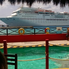 Ship view from port in Mexico