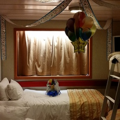 Birthday decorations in our cabin