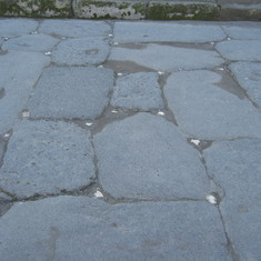 Pompeii--white stones marked streets for moonlight or torches