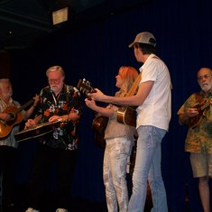 Jamming with Rhonda Vincent & Mo Pitney on the Reflection