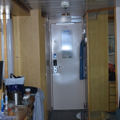 Entry bath and closet area