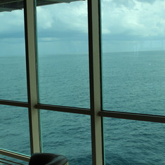 Looking out on the ship