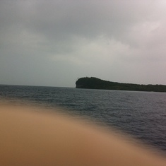 On tender from Lifou
