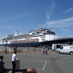HAL's ms Zaandam, at Victoria, B.C. , May 2014