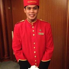 Cunard Bell boy