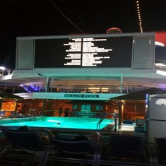 Dive In Movie Screen at pool