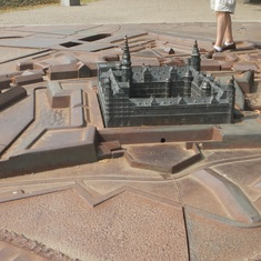 Scale model of the castle