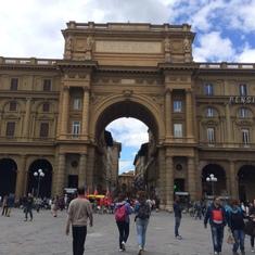 Piazza della Republica--Florence, Italy