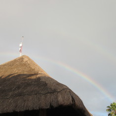 Cozumel, Mexico - Double rainbow in Cozumel Mexico