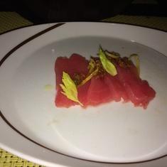 Tuna crudo at Tuscan